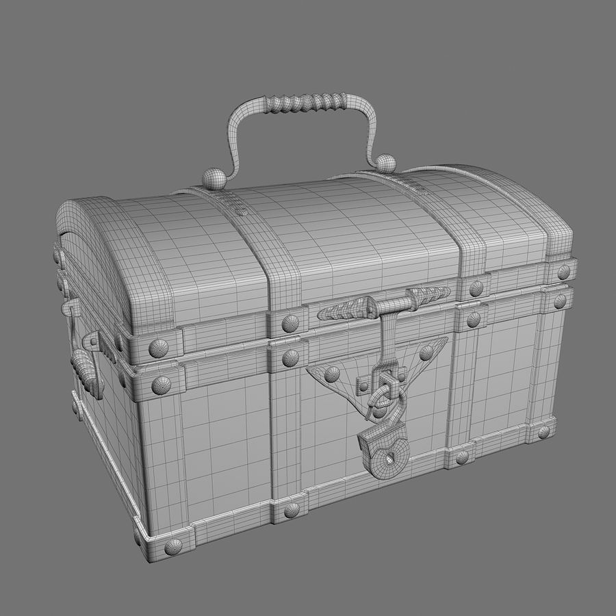 Chest Wood and Metal royalty-free 3d model - Preview no. 16