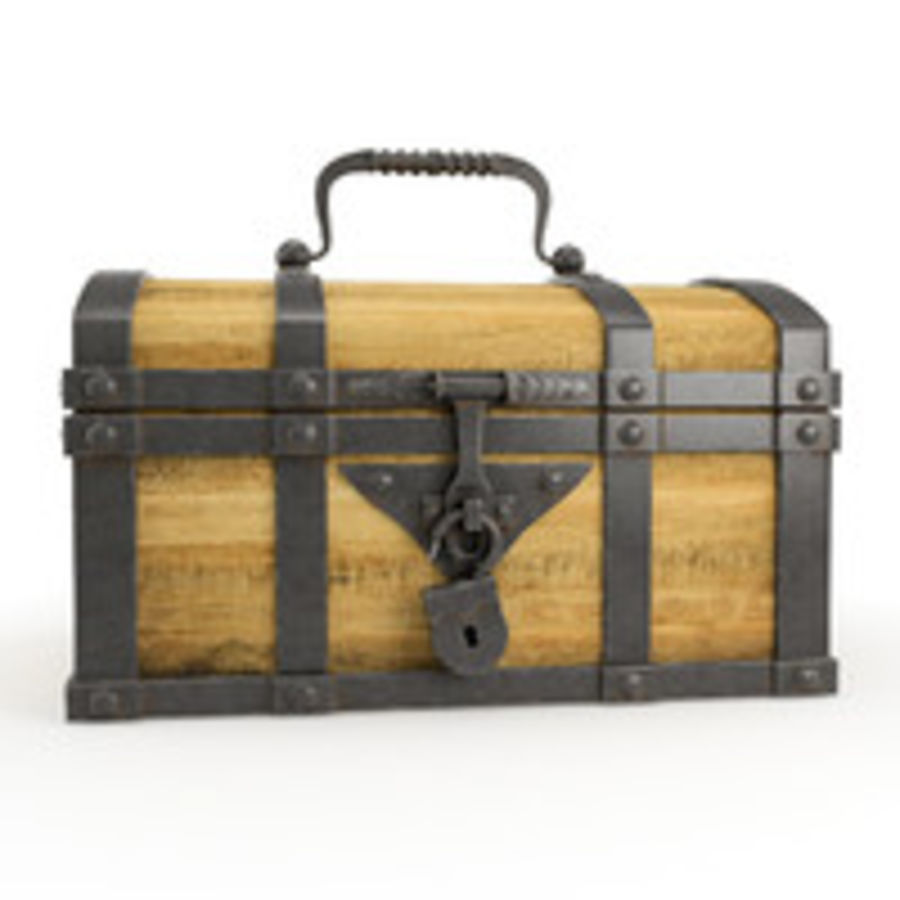 Chest Wood and Metal royalty-free 3d model - Preview no. 2