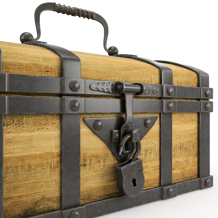 Chest Wood and Metal royalty-free 3d model - Preview no. 5