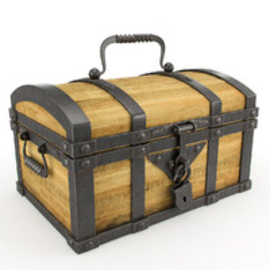 Chest Wood and Metal royalty-free 3d model - Preview no. 1