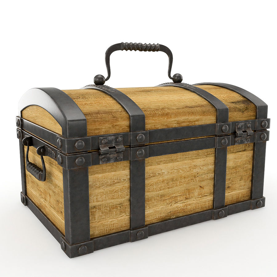Chest Wood and Metal royalty-free 3d model - Preview no. 4