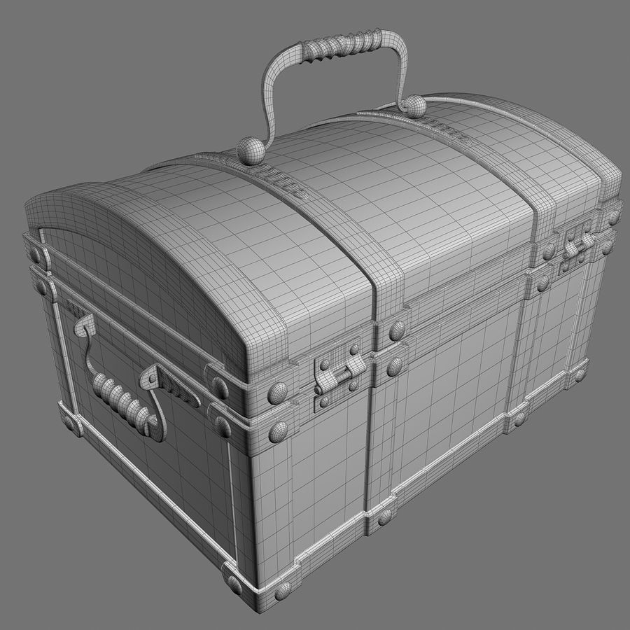 Chest Wood and Metal royalty-free 3d model - Preview no. 18