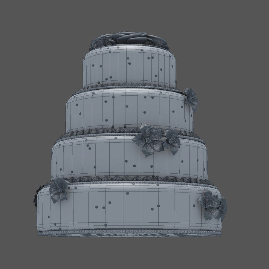 Cake royalty-free 3d model - Preview no. 7