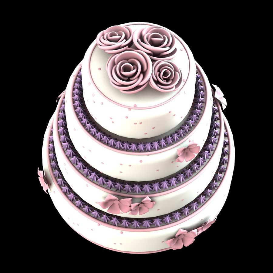 Cake royalty-free 3d model - Preview no. 3