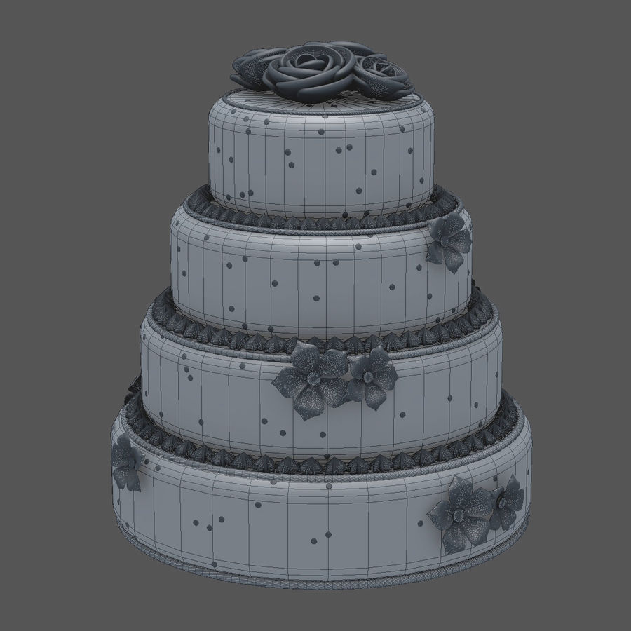 Cake royalty-free 3d model - Preview no. 4