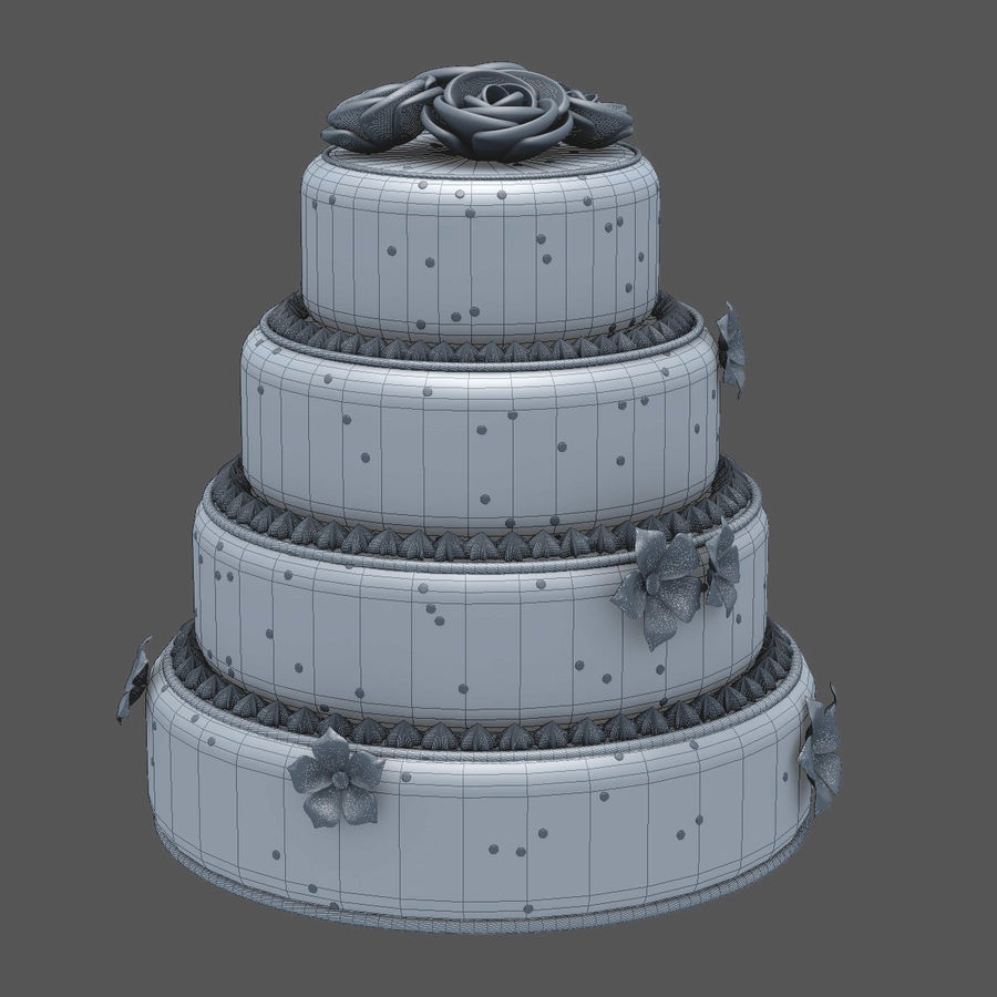Cake royalty-free 3d model - Preview no. 8