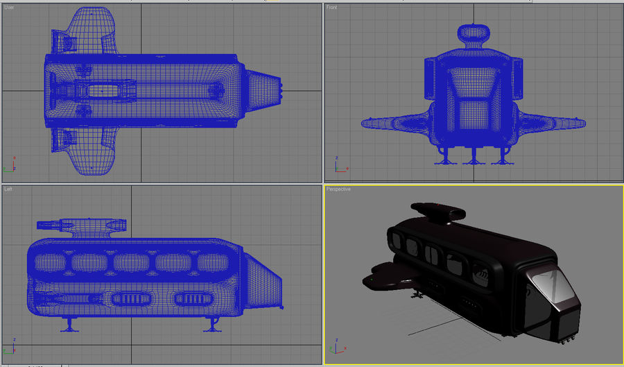 Space Bus royalty-free 3d model - Preview no. 6