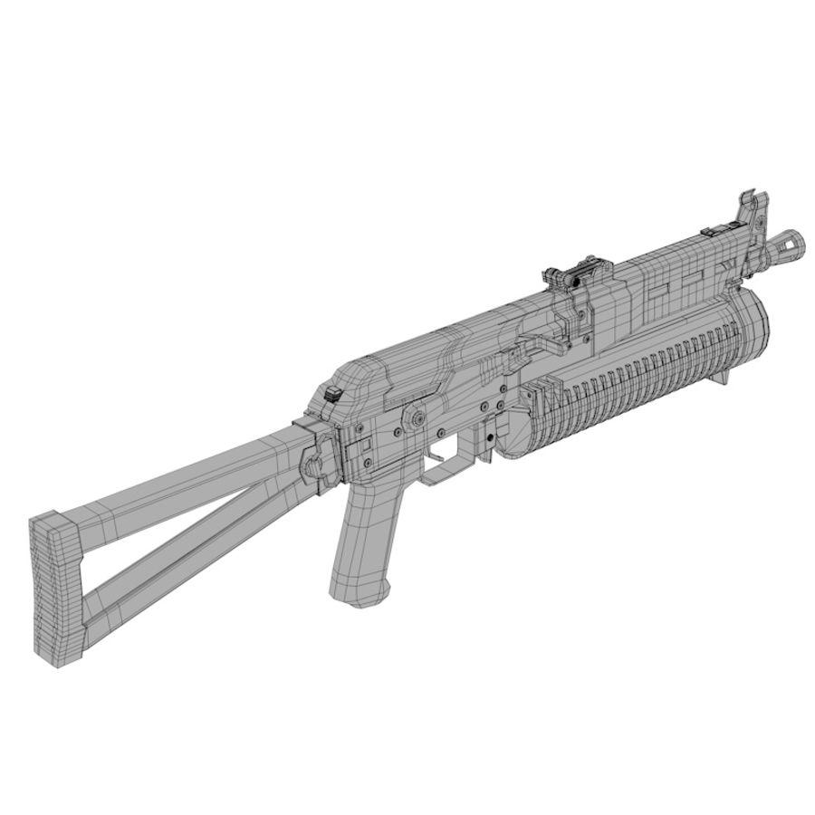 PP-19 Bizon SMG royalty-free 3d model - Preview no. 6