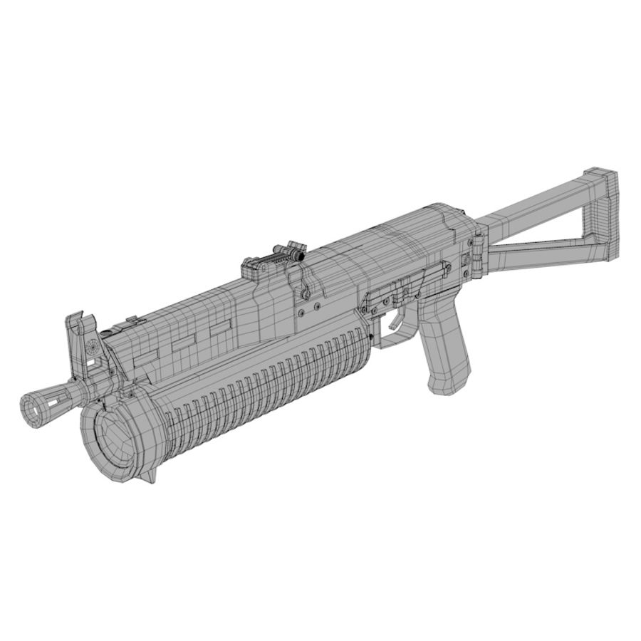 PP-19 Bizon SMG royalty-free 3d model - Preview no. 7
