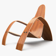 Bent Lounge Chair 3d model