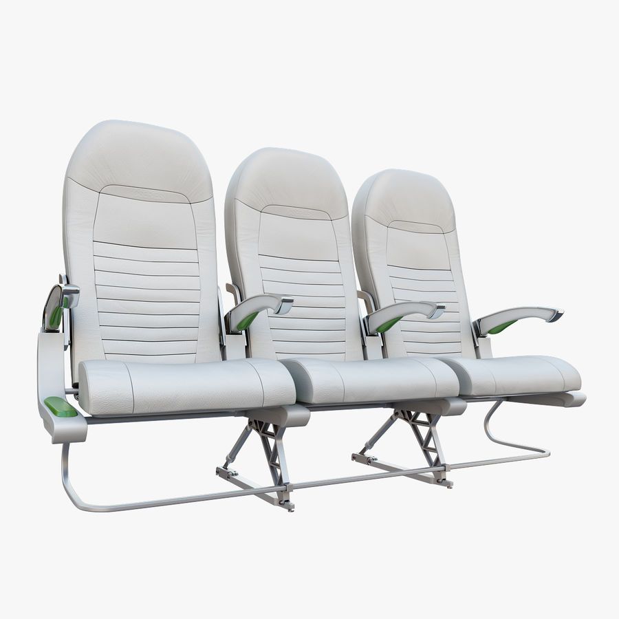 Economy Class Airplane Seat royalty-free 3d model - Preview no. 1
