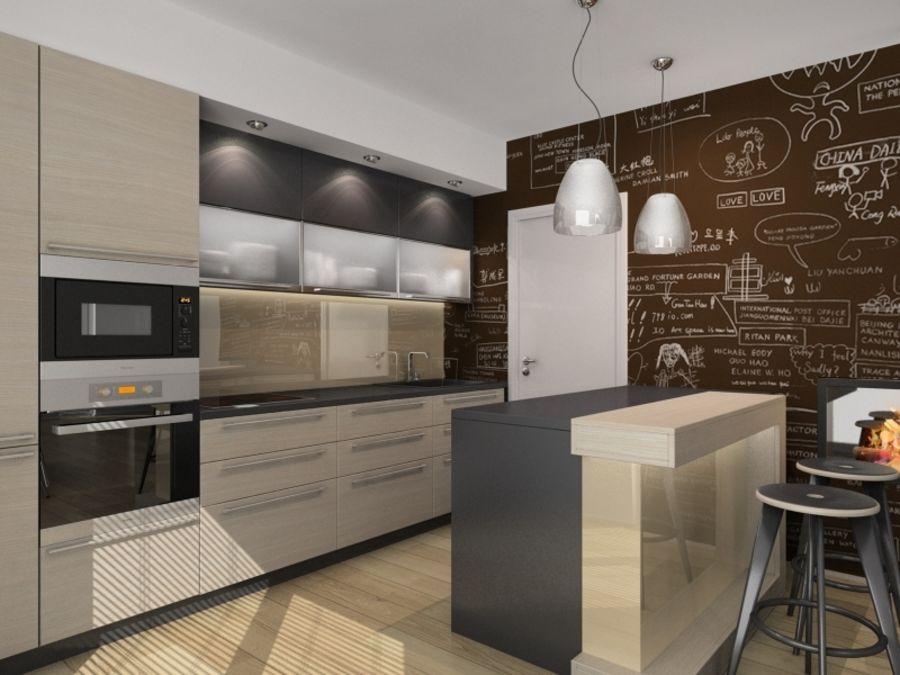 Kitchen 3D Model $25 -  max  stl  obj  fbx  dwg  3ds - Free3D