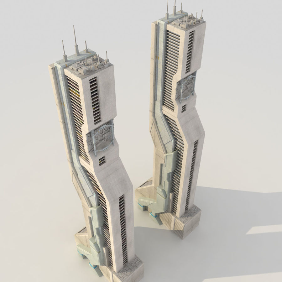 Sci Fi Futuristic Building royalty-free 3d model - Preview no. 3