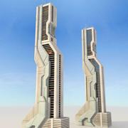 과학 Fi를 미래 지향적 인 건물 3d model