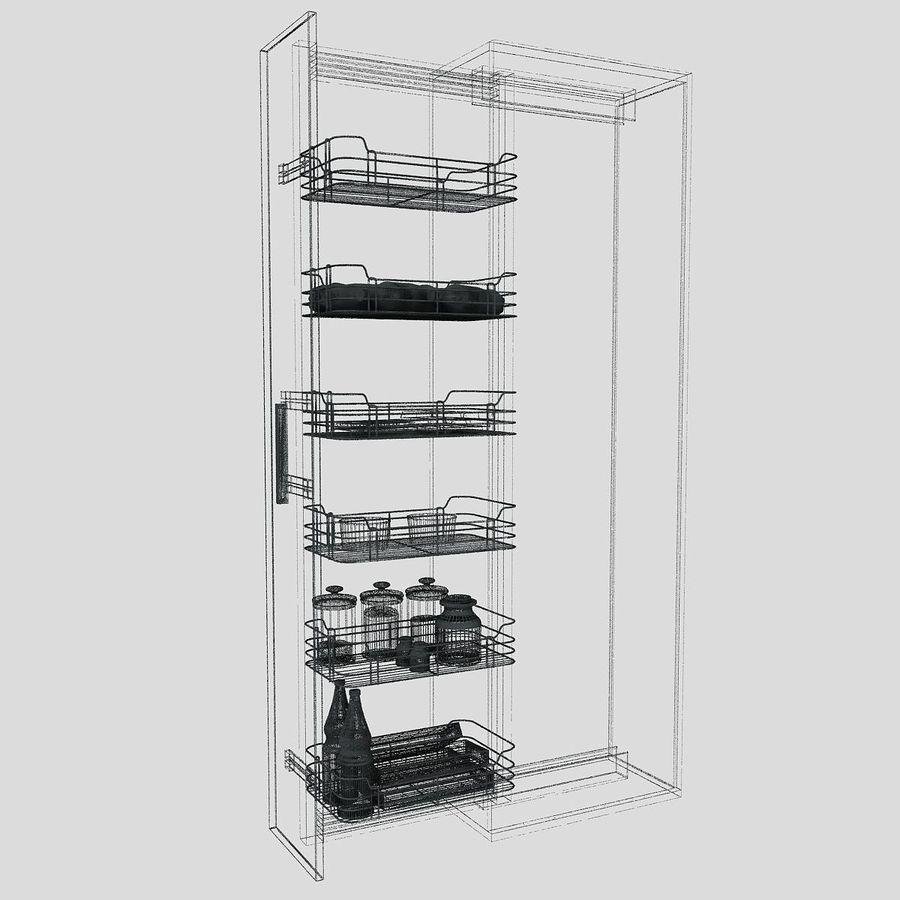 Кухонные шкафы-купе CE royalty-free 3d model - Preview no. 6