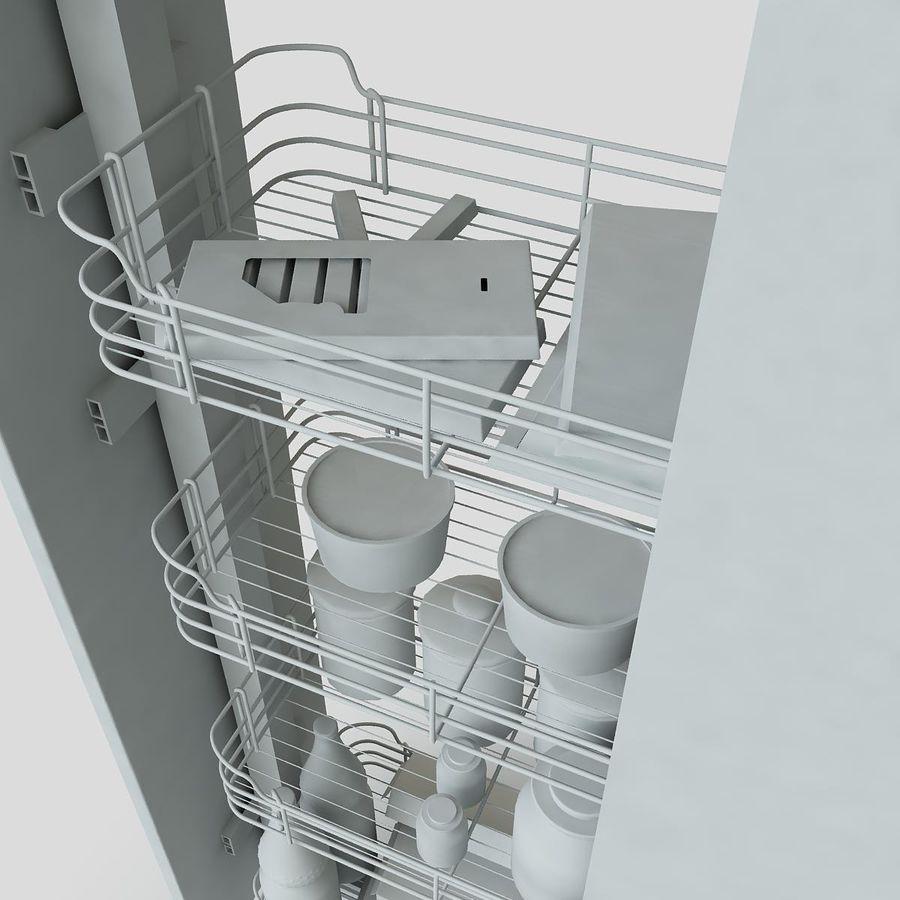 Кухонные шкафы-купе CE royalty-free 3d model - Preview no. 9