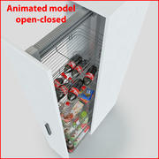 Kitchen Slider Cabinet Storages CE 3d model