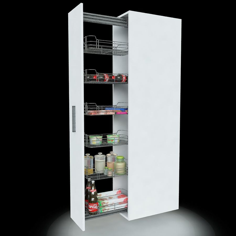 Кухонные шкафы-купе CE royalty-free 3d model - Preview no. 3