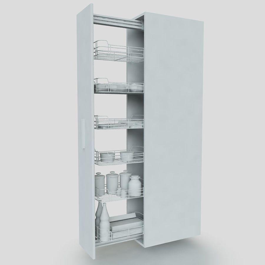 Кухонные шкафы-купе CE royalty-free 3d model - Preview no. 4