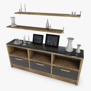 Cupboard and Accessories 3d model