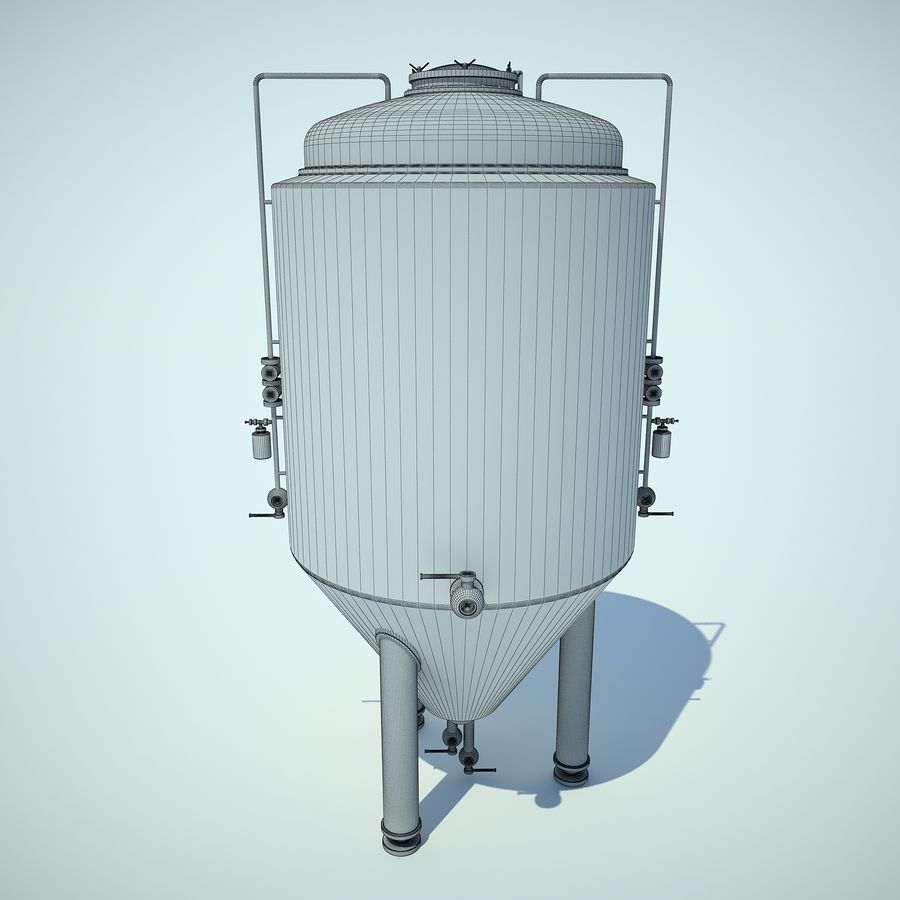 Beer Tank royalty-free 3d model - Preview no. 7