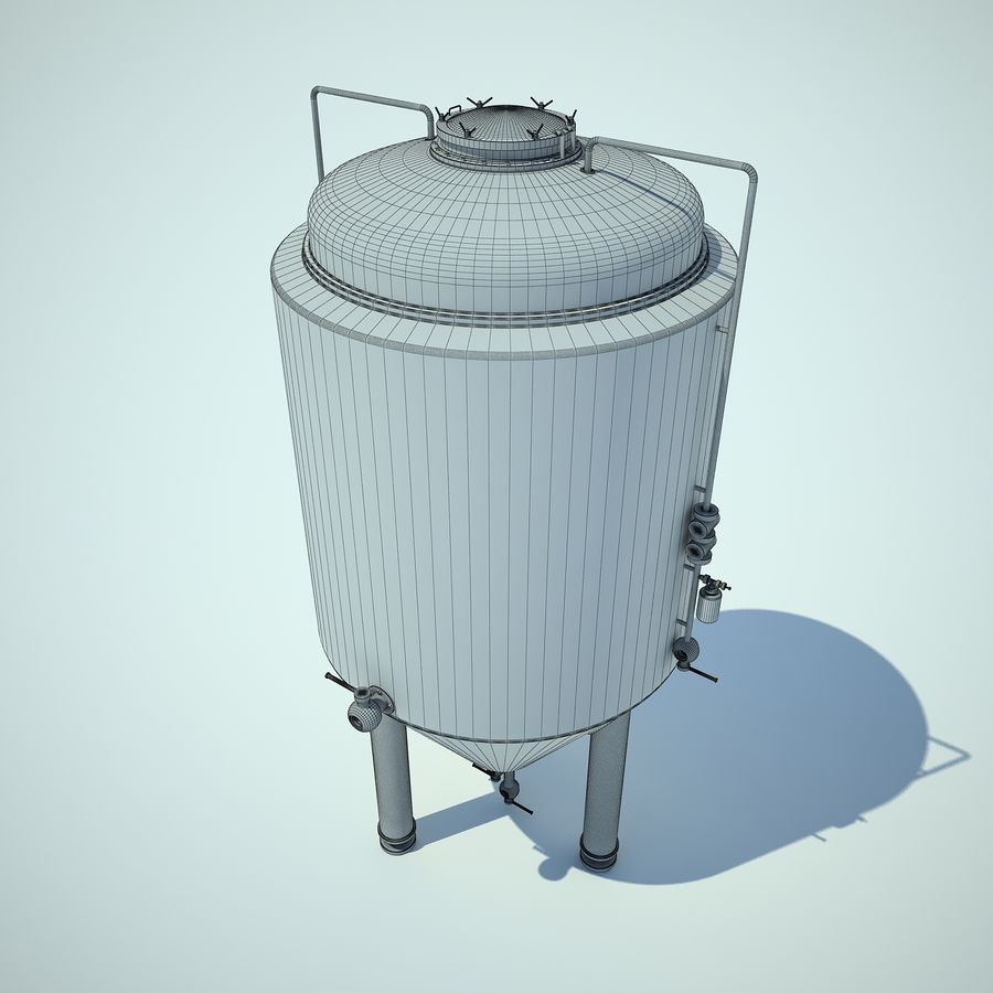 Beer Tank royalty-free 3d model - Preview no. 5