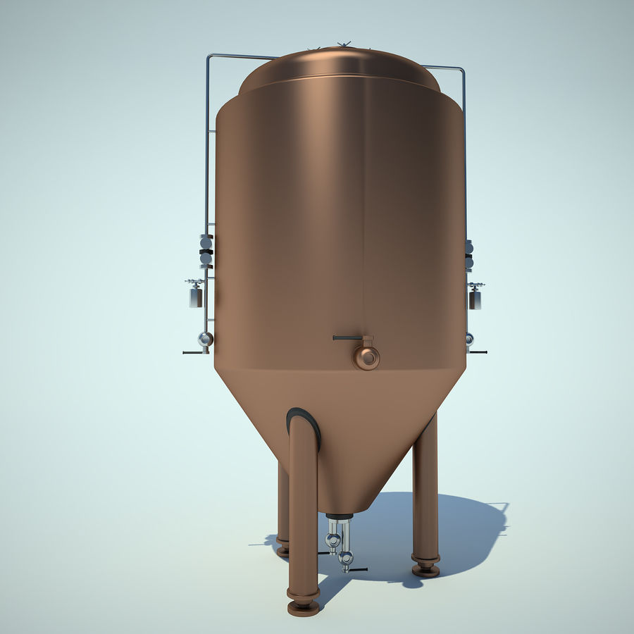 Beer Tank royalty-free 3d model - Preview no. 2