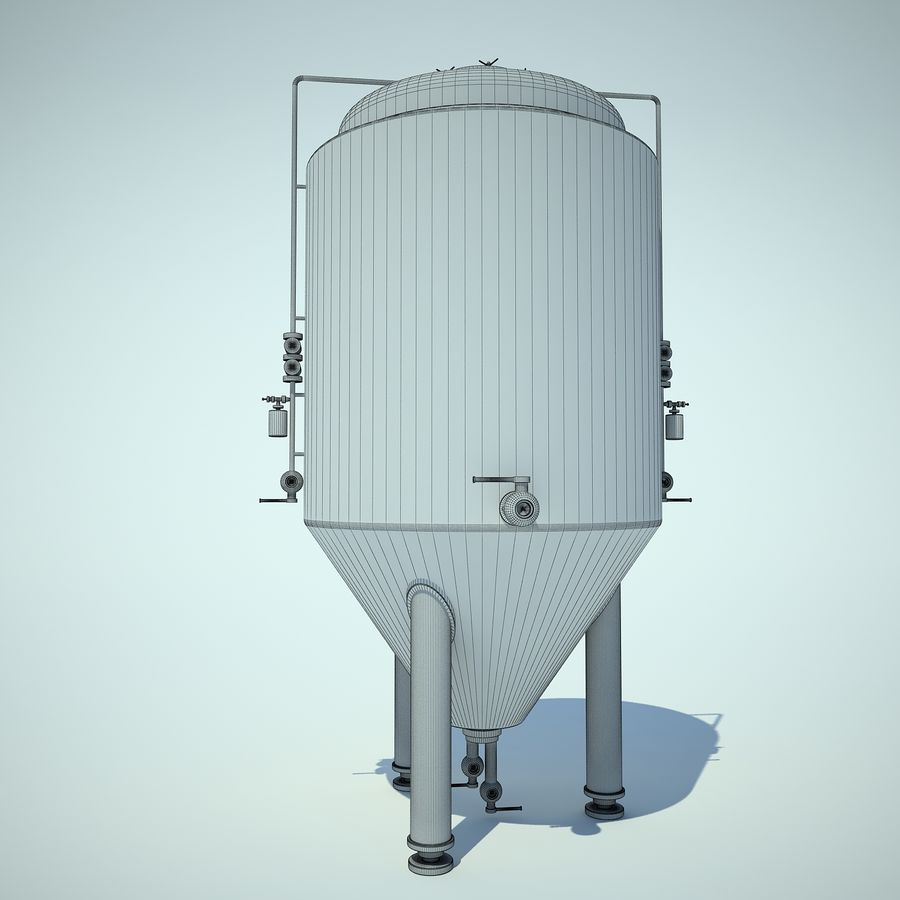 Beer Tank royalty-free 3d model - Preview no. 3