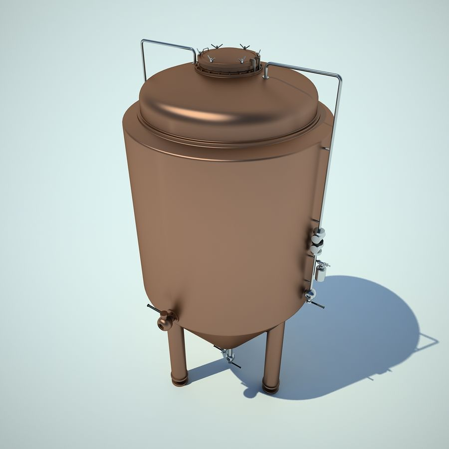 Beer Tank royalty-free 3d model - Preview no. 4