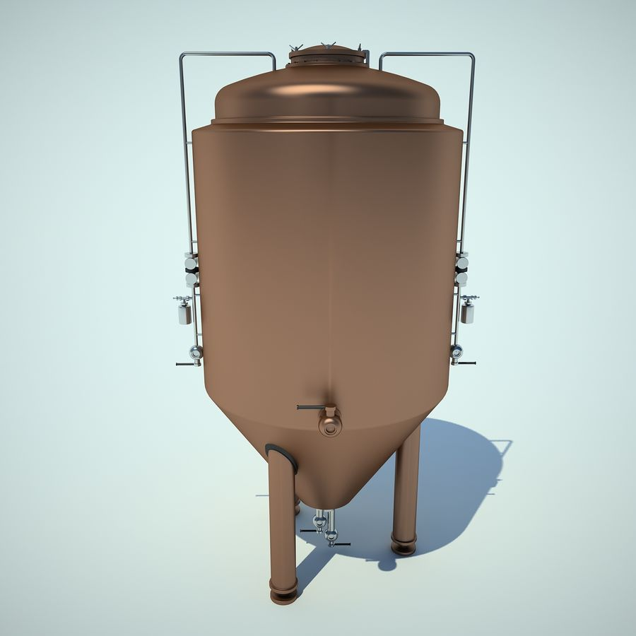 Beer Tank royalty-free 3d model - Preview no. 6