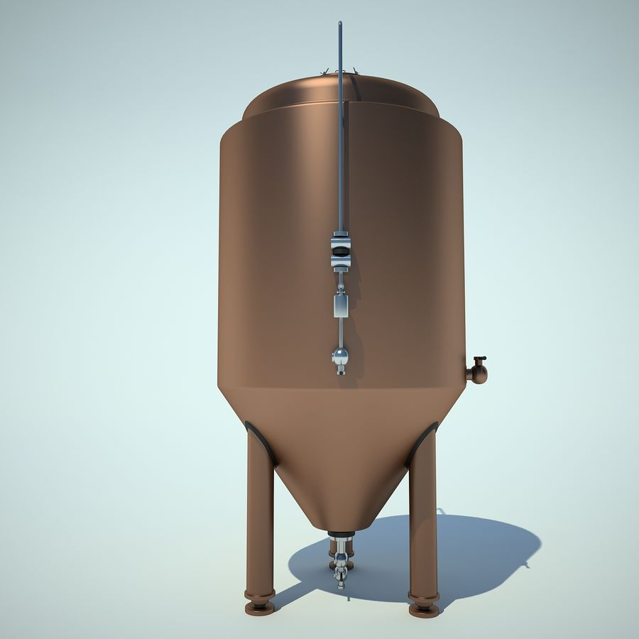 Beer Tank royalty-free 3d model - Preview no. 8