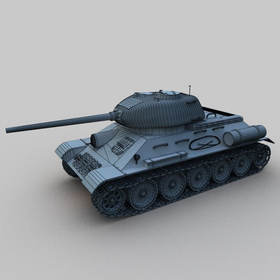T-34 royalty-free 3d model - Preview no. 2