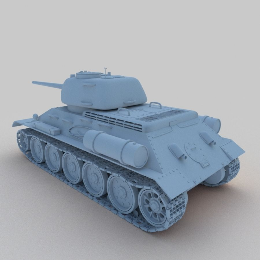 T-34 royalty-free 3d model - Preview no. 3