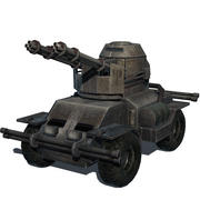 Modelo de juego de tanque modelo 3d