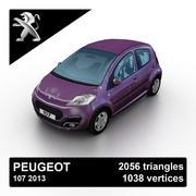 Peugeot 107 2013 3d model