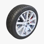 Bridgestone Potenza 10 Spoke Wheel 3d model