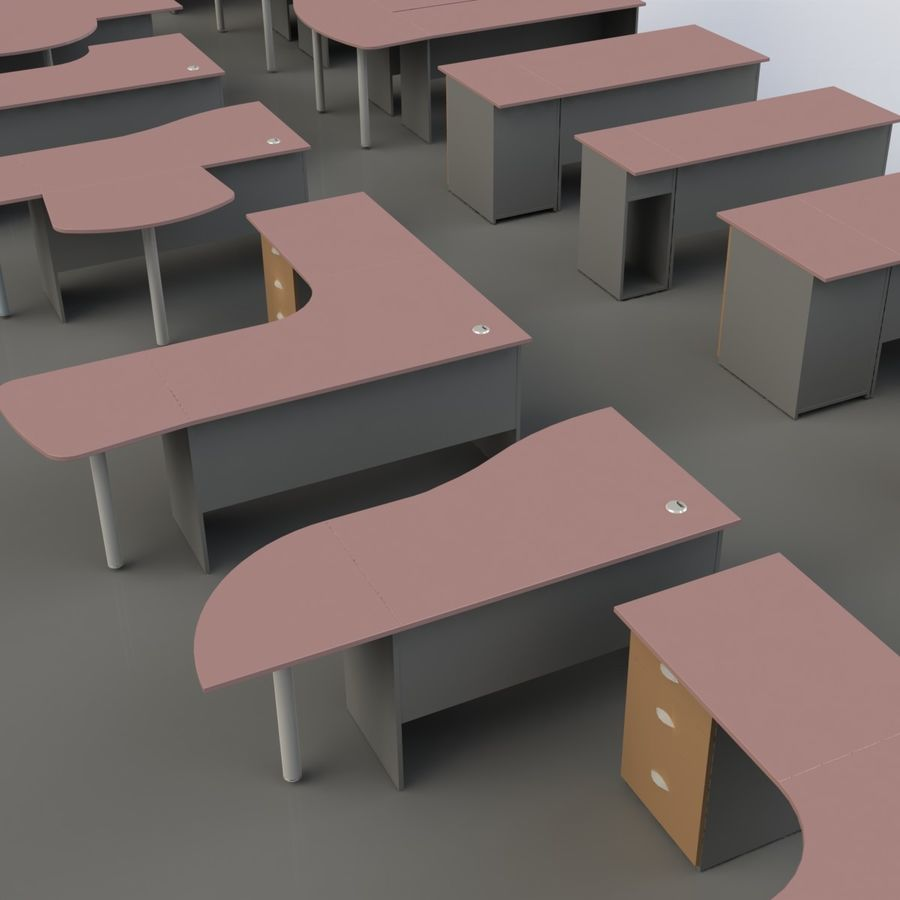 Office Furniture 001 royalty-free 3d model - Preview no. 24