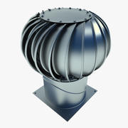 Industrial Roof Turbine Metal 02 3d model