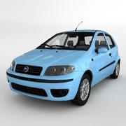 Fiat Punto 2 Doors 2004 3d model