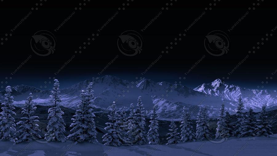 雪の木 royalty-free 3d model - Preview no. 6
