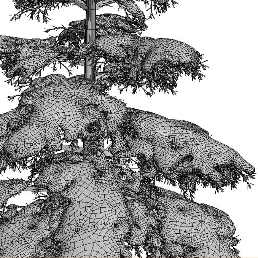 雪の木 royalty-free 3d model - Preview no. 4