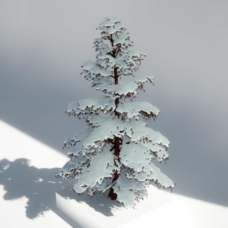 雪の木 royalty-free 3d model - Preview no. 2