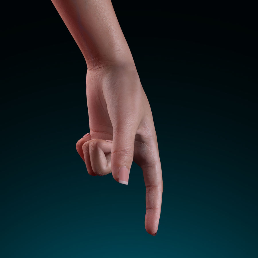 Female Arm royalty-free 3d model - Preview no. 11