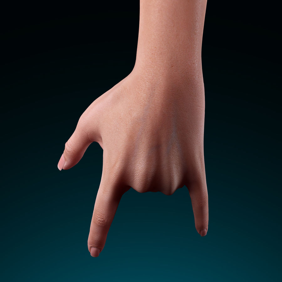 Female Arm royalty-free 3d model - Preview no. 12