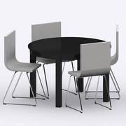 IKEA BJURSTA/BERNHARD Table & Chairs 3d model