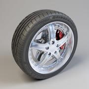 Bridgestone Potenza 5 Spoke Wheel 3d model