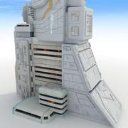 Budynek Sci Fi Futuristic Tower 3d model