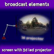 占位符广播屏幕 3d model