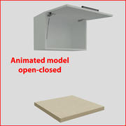 向上60厘米的门厨房家具1 3d model