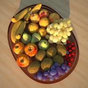 fruit bowl salad 3d model